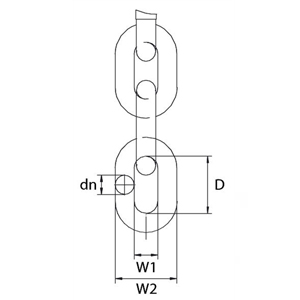 Grade 8 Short Link Chain (BS-EN 818-2) Diagram