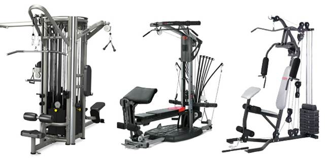 Three Multi Gym Machines