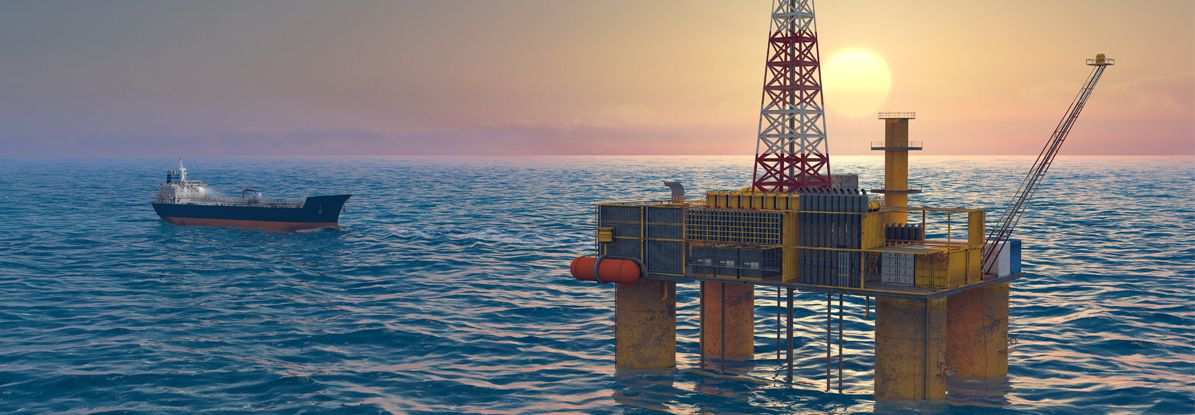 Drilling Operation in the sea