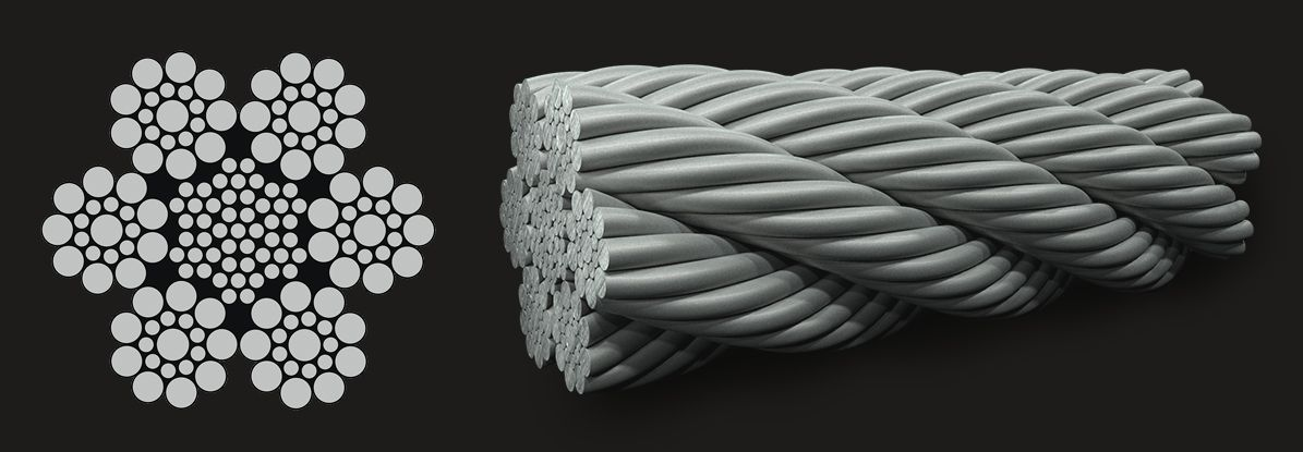 6x19 (9/9/1) Seale - IWRC Wire Rope