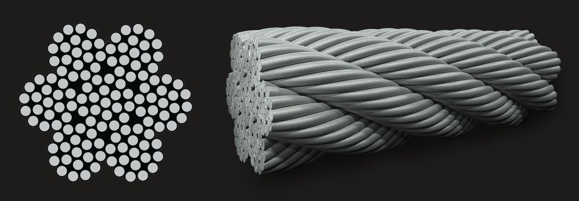 7x19 (12/6/1) - Marine Grade Stainless Steel Wire Rope
