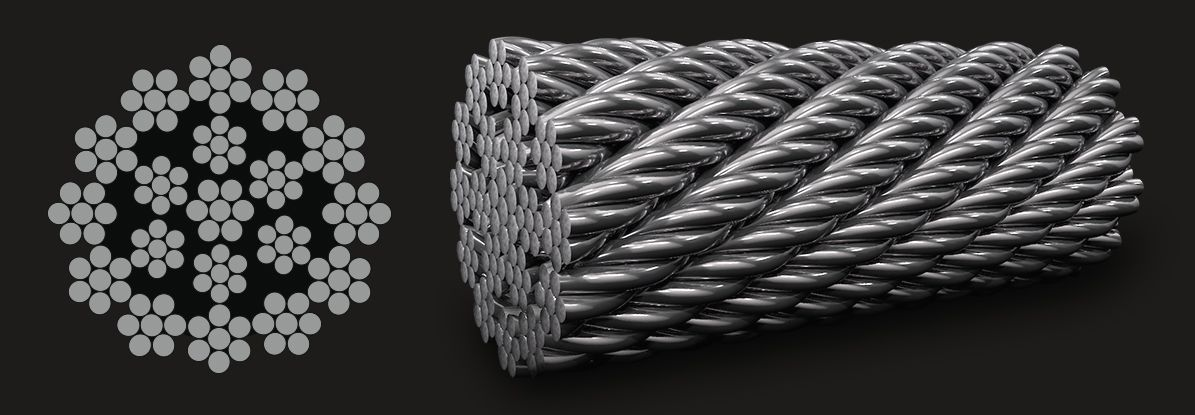 18X7 (6/1) - Rotation Resistant Stainless Steel Wire Rope