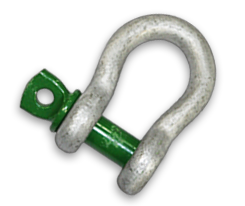 Green Pin Screw Pin Bow Shackle