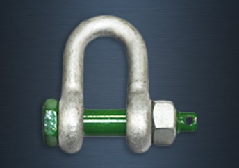 Galvanised Green Pin Safety Pin Standard Dee Shackles