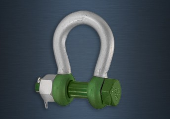 Galvanised Green Pin Safety Pin Bow Polar Shackles