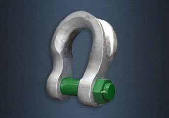 Galvanised Green Pin Sling Safety Pin Bow Shackles