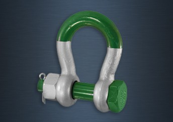 Galvanised Super Green Pin Safety Pin Bow Shackles