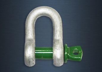 Galvanised Green Pin Screw Pin Standard Bow Shackles