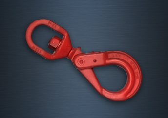 Grade 8 Swivel Self-Locking Hook - Large Style