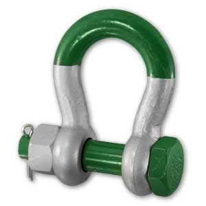 Green Pin Safty Pin Super Bow Shackle
