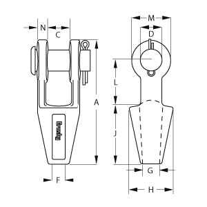 Open Spelter Sockets - Diagram