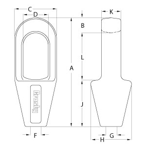 Closed Spelter Sockets - Diagram