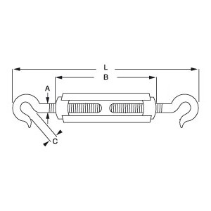 Hook and Hook - Commercial Strainer - Diagram