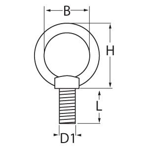 DIN 580 Eyebolt Diagram
