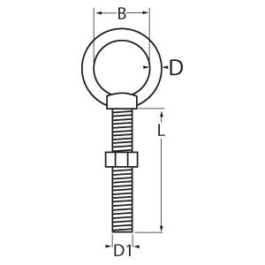 Metric Thread Eye Bolt Diagram