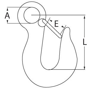 Eye Type Hook with Latch Diagram
