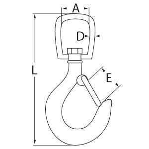 Swivel Hook with Latch Diagram
