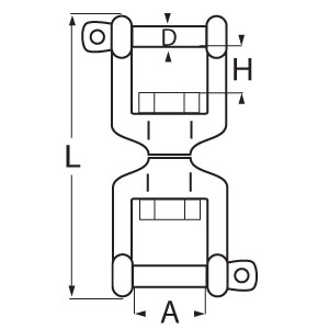 Stainless Steel Swivel Jaw & Jaw - Diagram
