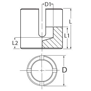Stainless Steel Wire Rope Cross Clamp - Diagram