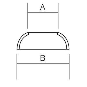 Stainless Steel Stemball Cup - Diagram
