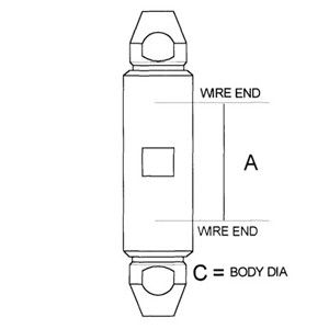 Stainless Steel Self Assembly Stay Connector - Diagram