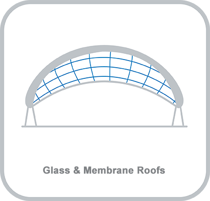 Icon and heading for - Glass and Membrane Roofs