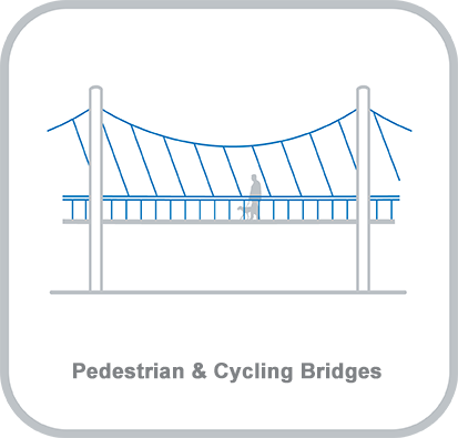 Icon and heading for - Pedestrian and Cycling Bridges