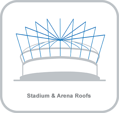 Icon and heading for - Stadium and Arena Roofs