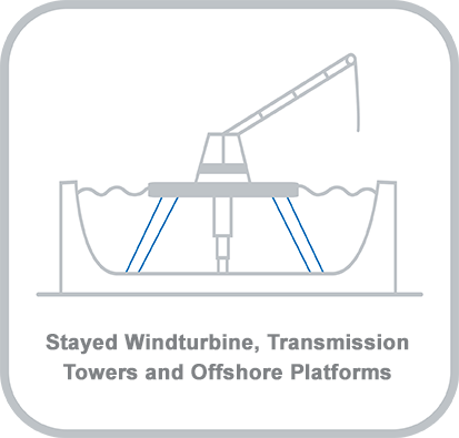 Icon and heading for - Stayed Windturbine, Transmission Towers and Offshore Platforms